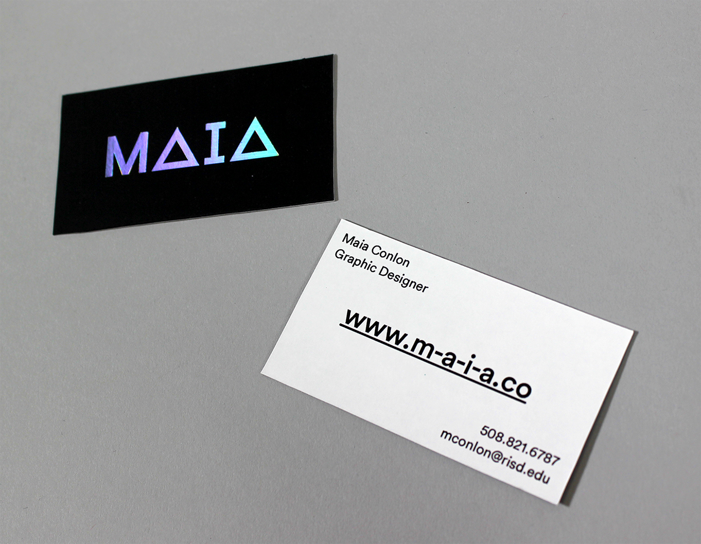 Foil stamped business cards on behance holographic foil colourmoves