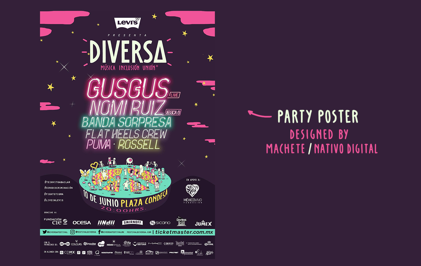 diversidad sexual festival igualdad poster sex Diversity fest equality party