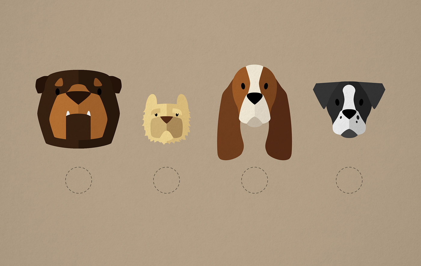 ILLUSTRATION  UI ux app Mobile app dogs animation  interaction