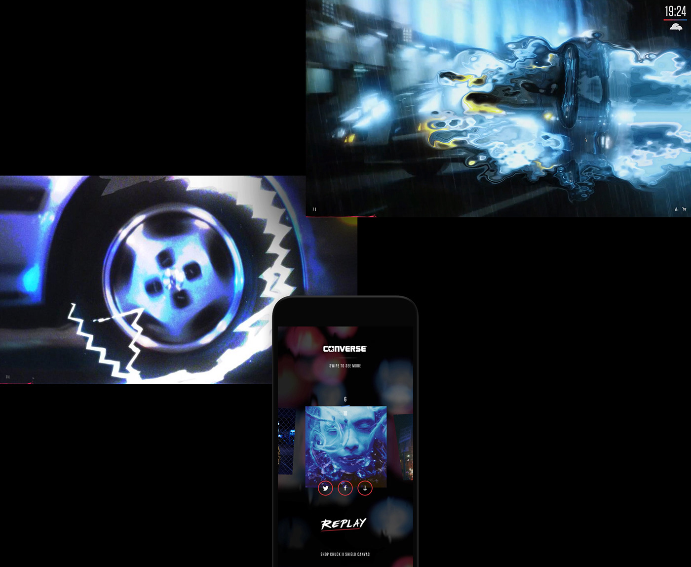 interactive video music Website effects keithape converse ArtDirection