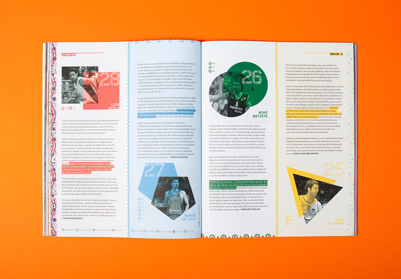 Cover Pages And Layout Designs For Socrates Magazines Story Euroleague Top 50 Published In May 2017