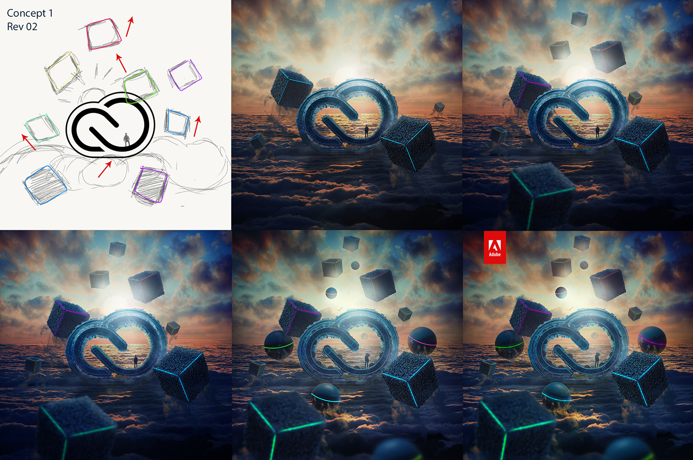 adobe art 3D inspire photoshop poster photomanipulation Ps25Under25 Creative Cloud