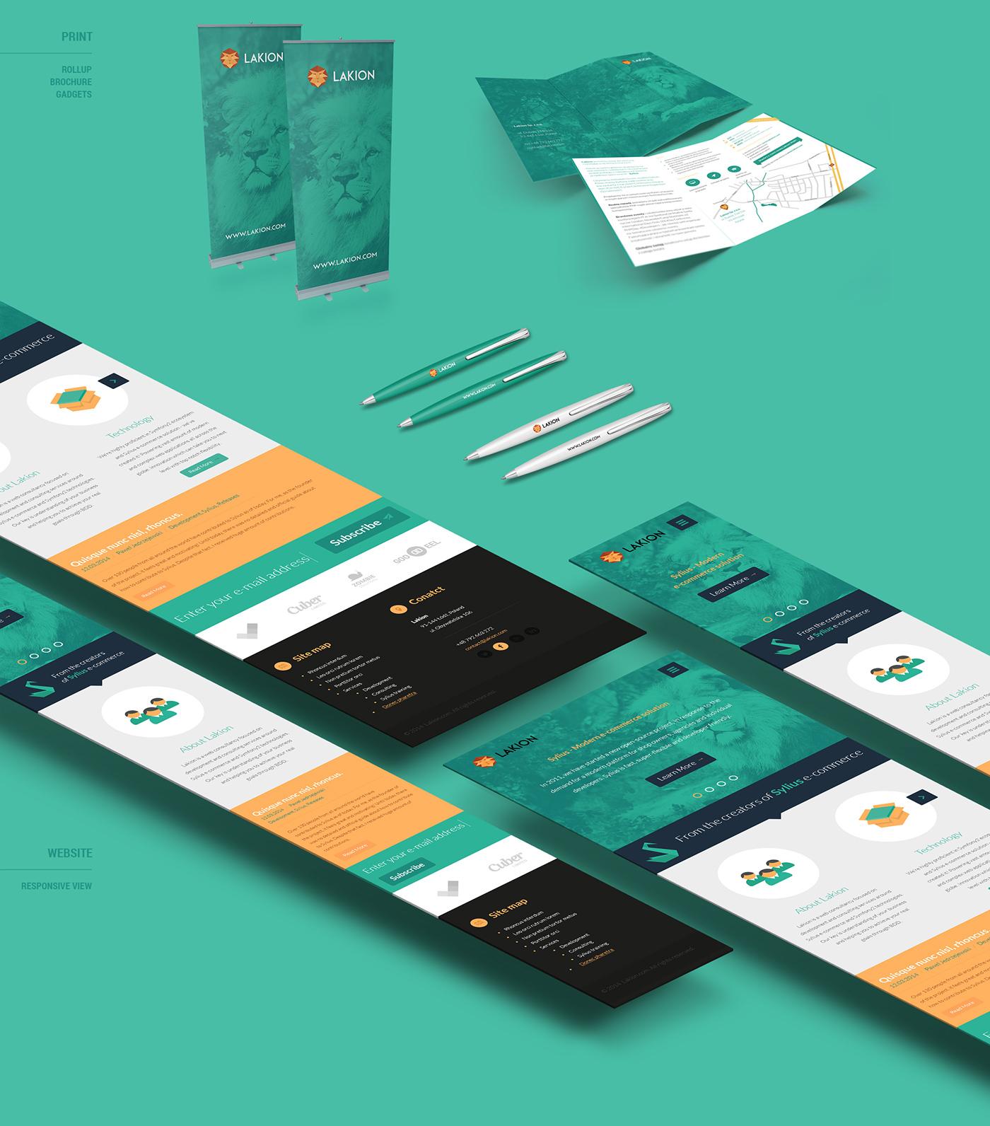 agency brochure cards lakion lion logo brand Web Responsive poland