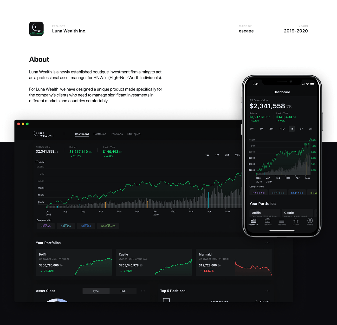 broker,dark,dashboard,finance,Fintech,invest,Investment,money,UI,ux