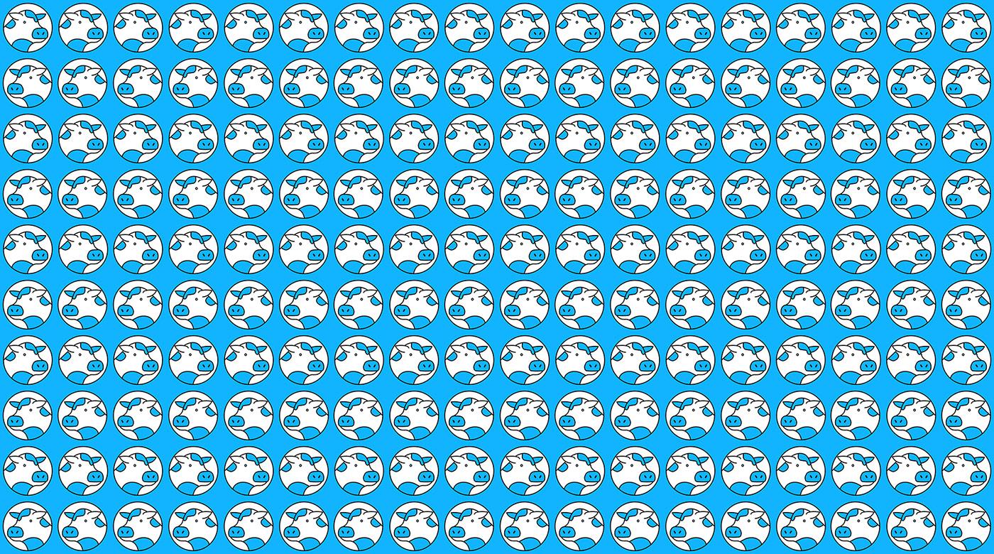 cow logo pattern
