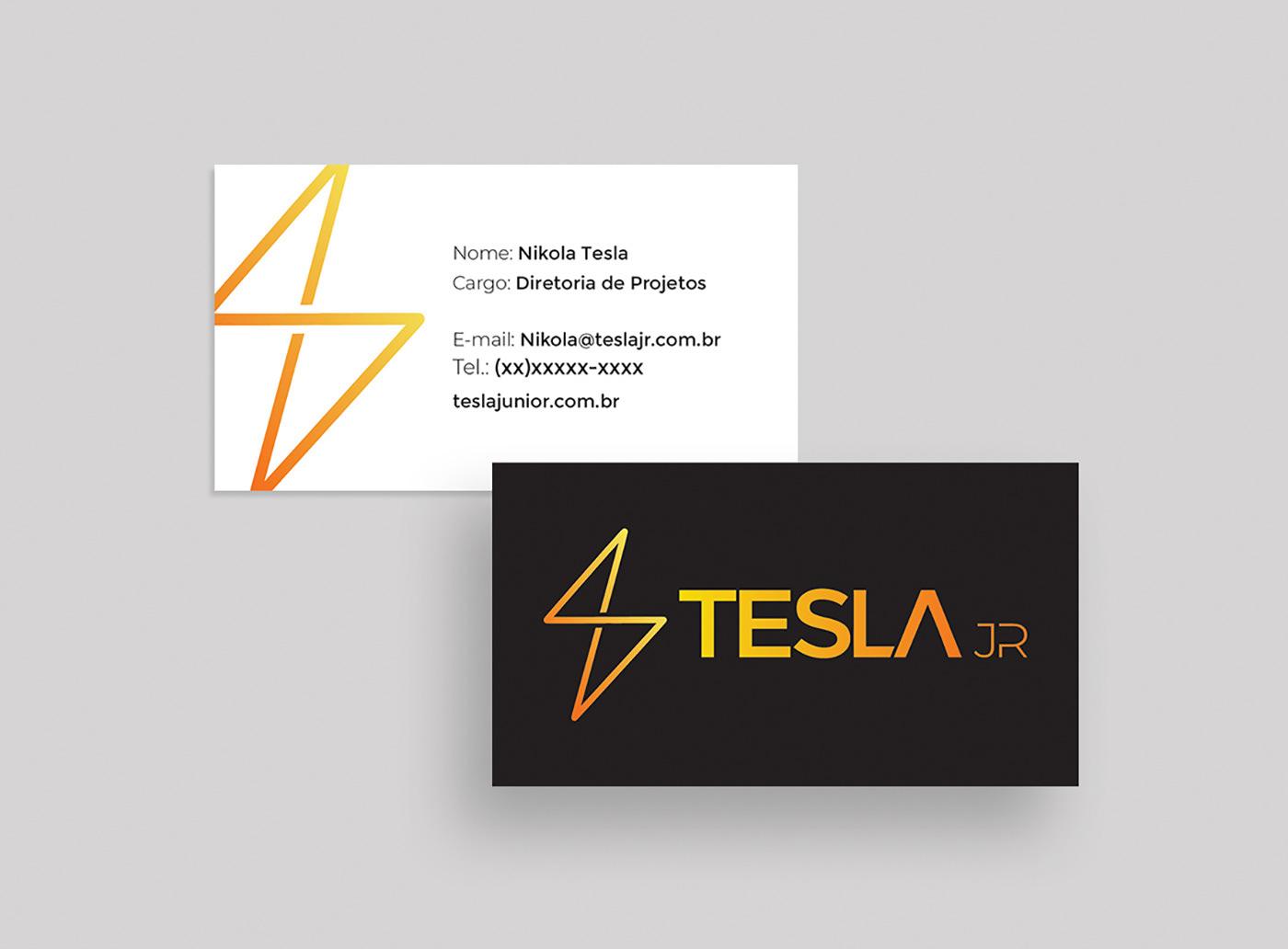 identidade visual grafico design Cartão de Visita template desenho industrial eletricidade gif conceito Concepção