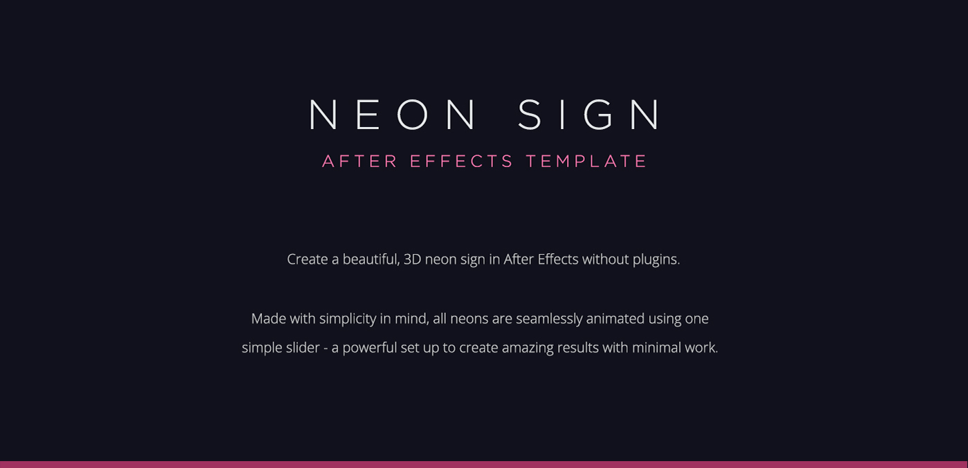Neon sign free after effects template on behance maxwellsz