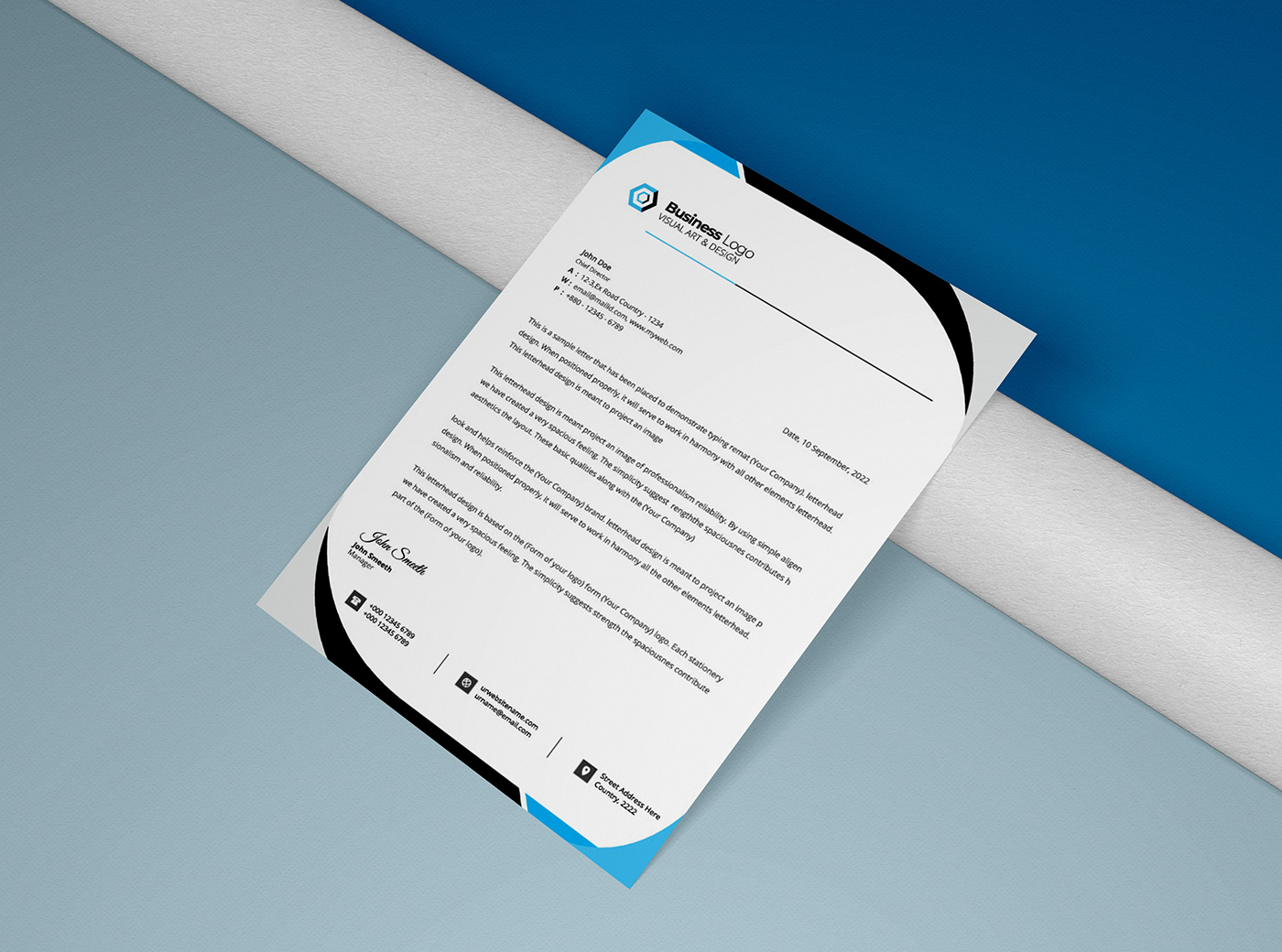 a4 application corporate letterhead creative invoice letter letterhead letterhead flyer modern Stationery