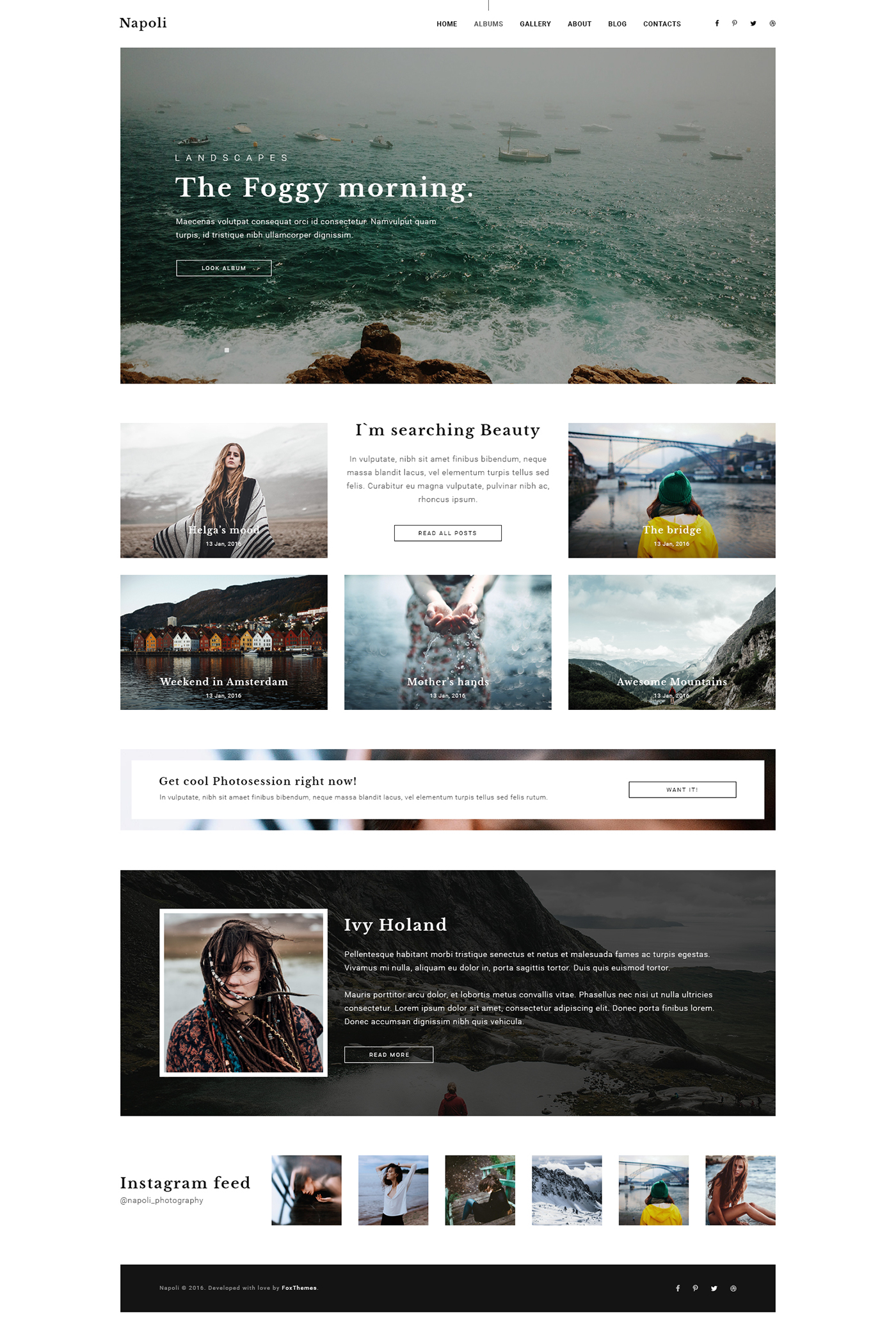 Napoli Modern Photography Portfolio Theme On Behance - Photography portfolio template
