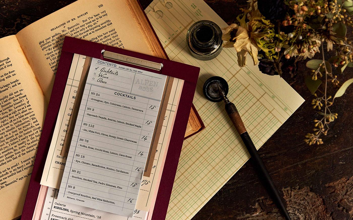 Image may contain: indoor, menu and handwriting