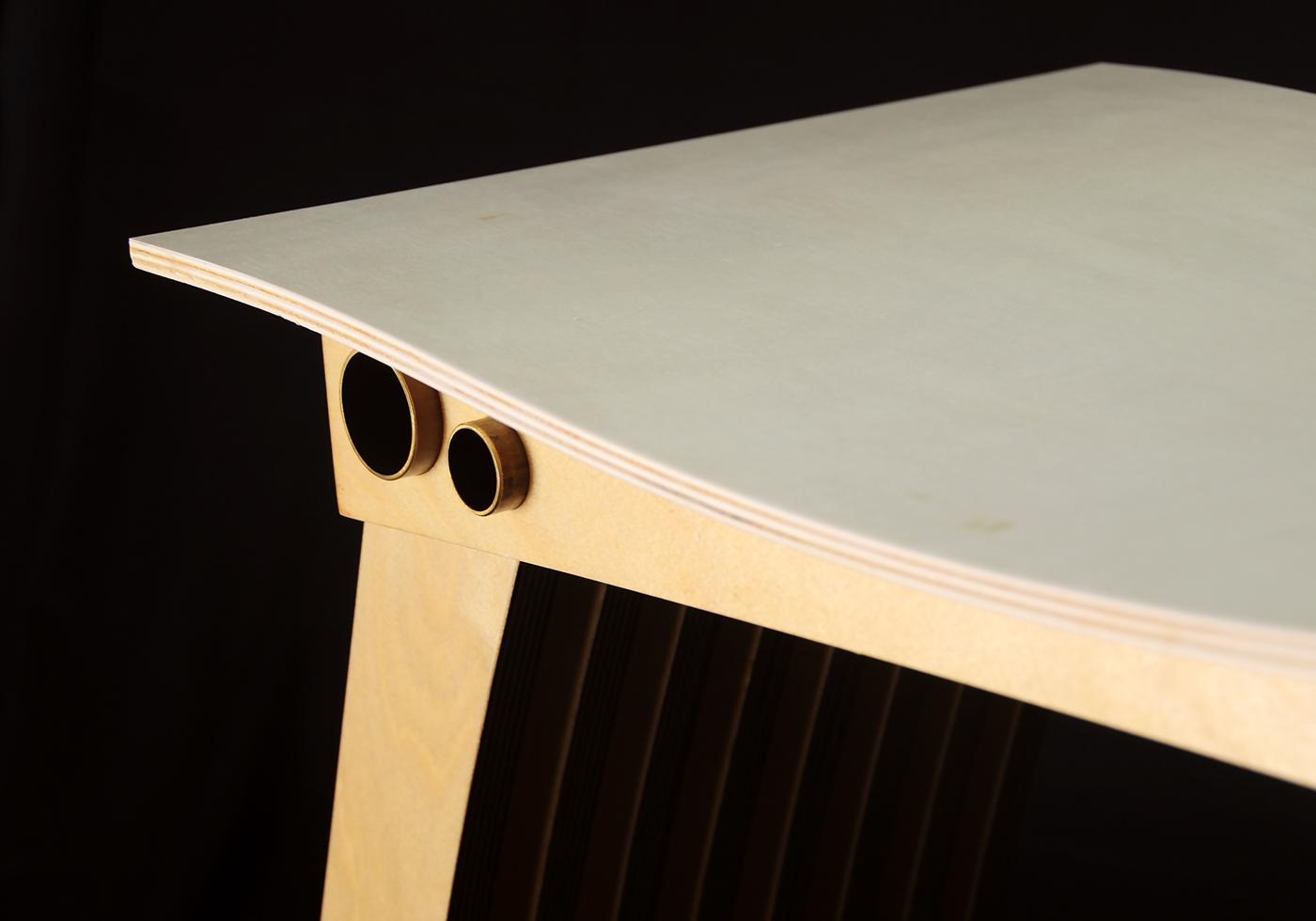 bench pressure glueless curve wood brass cnc