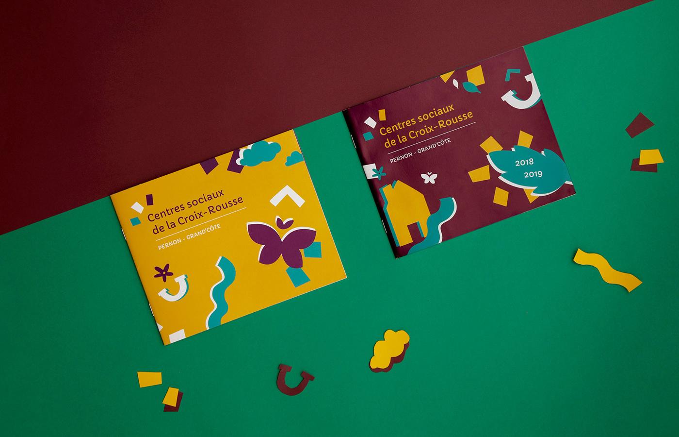 brochure enfance graphic design  graphisme ILLUSTRATION  livret paper papier print social