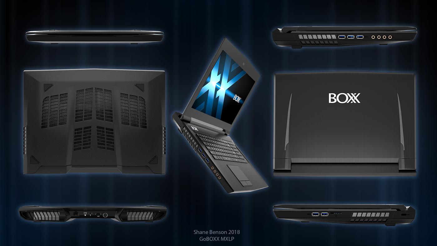 notebook boxx Laptop c4d cinema 4d