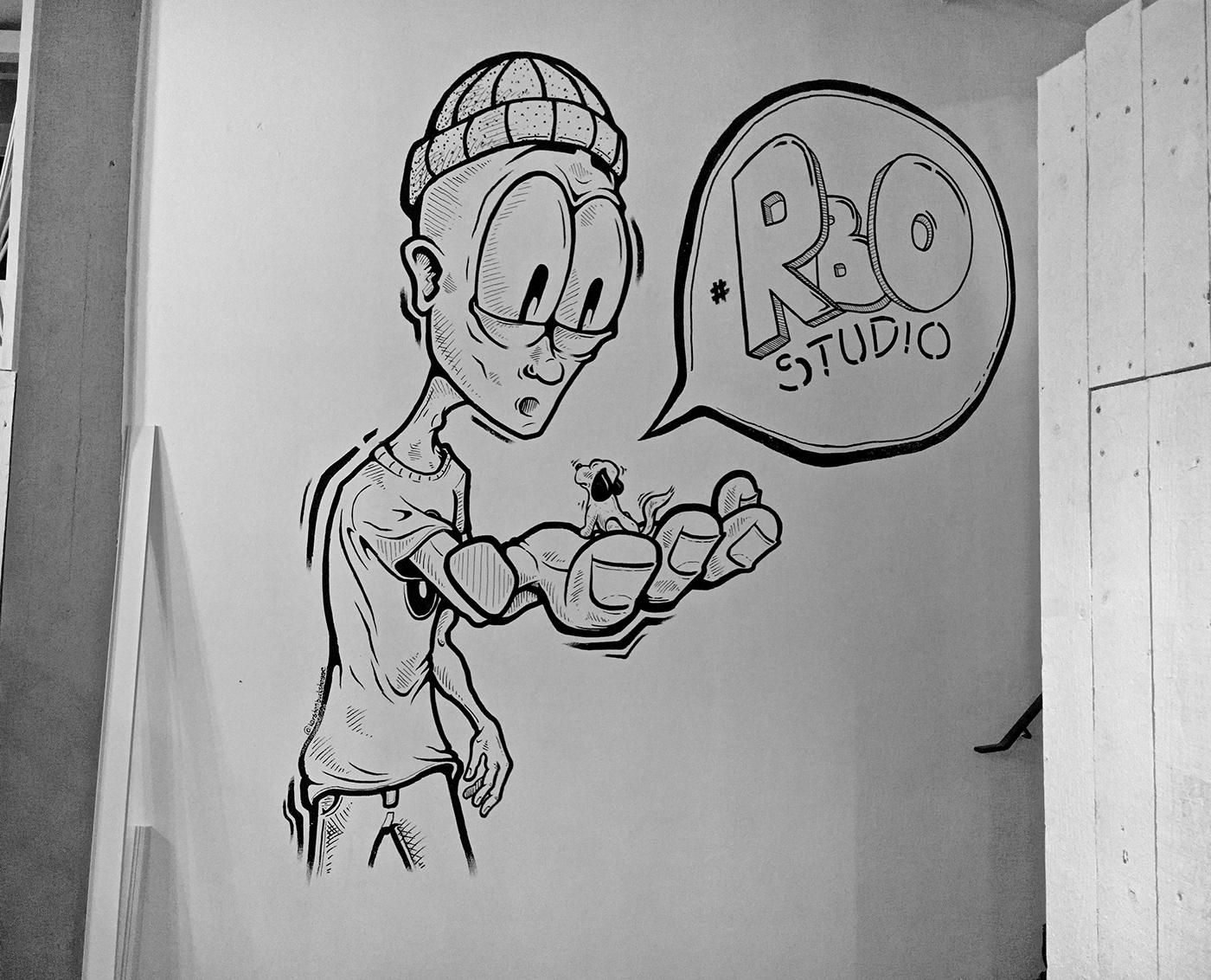 Mural wallart characterdesign streetart hamburg