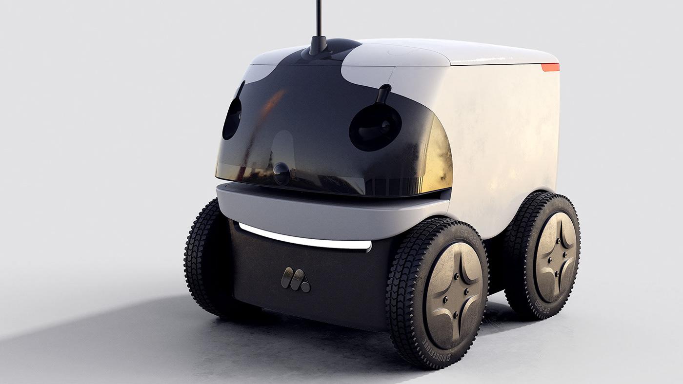 industrial design  product development robot Autonomous vehicle delivery product design  Vehicle design Engineering