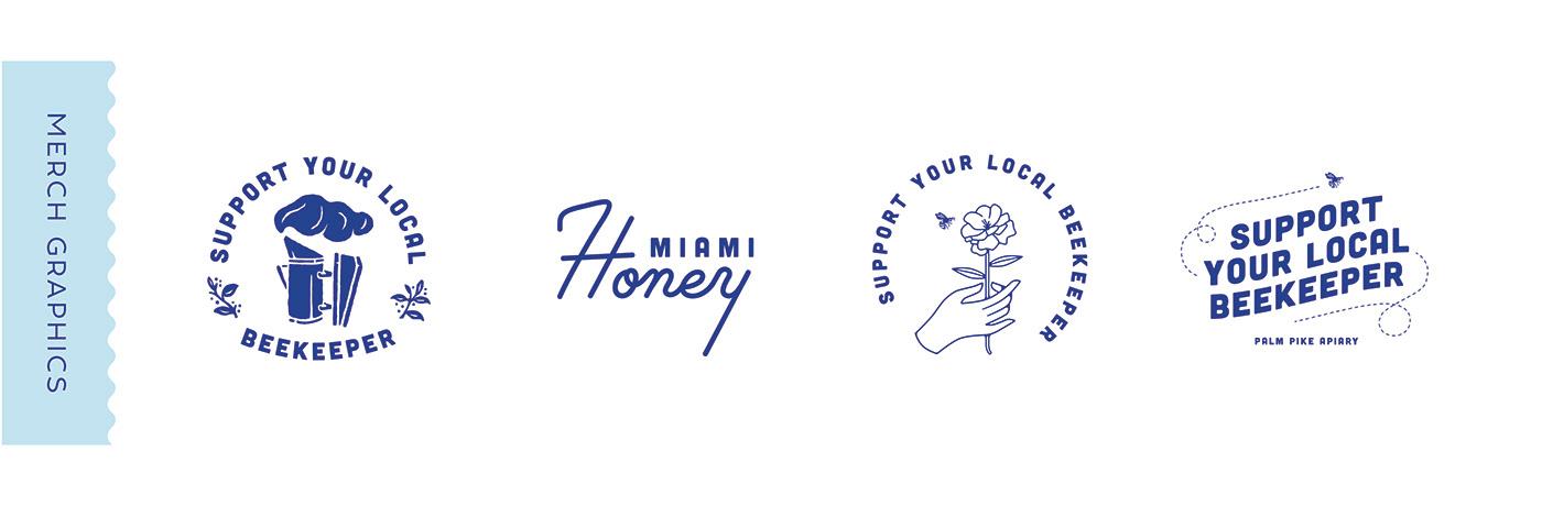 branding  beekeeping Logo Design graphic design  Business Cards Jar labels honey Packaging typography   shirt design