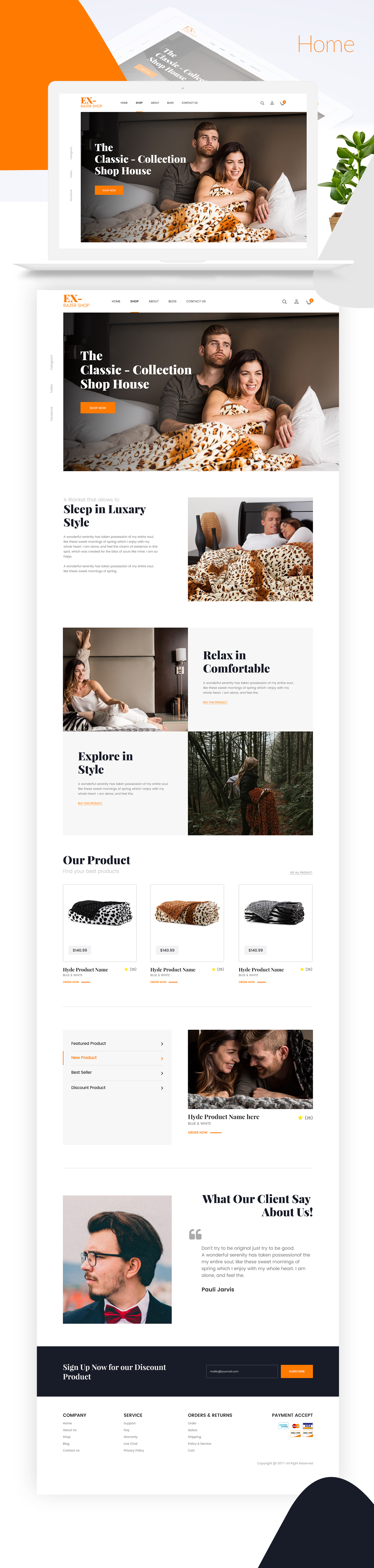 Ecommerce Website Template Xd Pinspiry