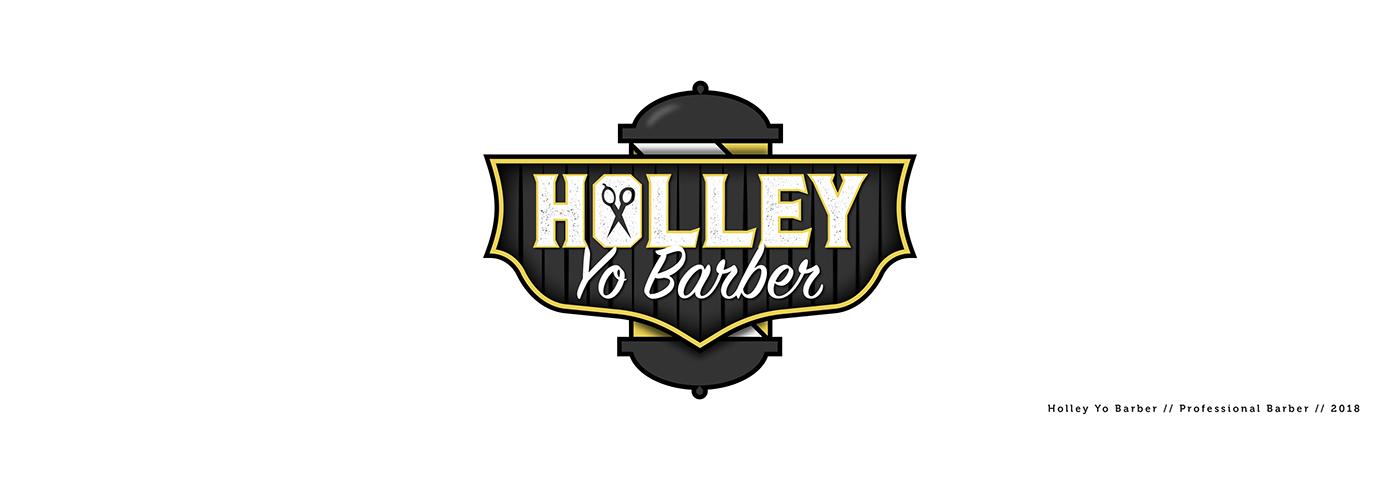 Holley yo barber logo design