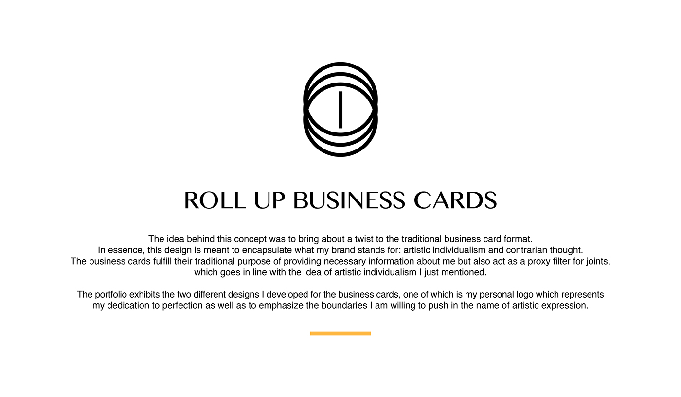 Roll Up Business Cards on Behance