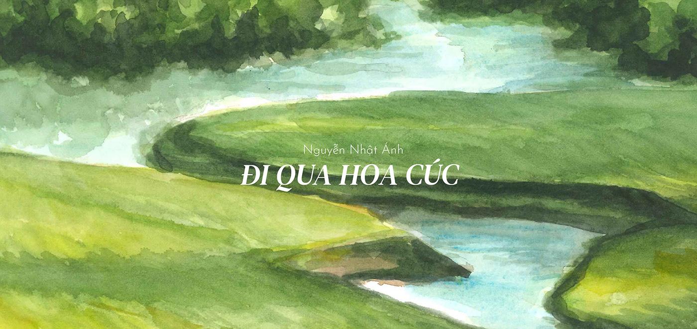 art book comic daisy hand-drawn ILLUSTRATION  summer watercolor
