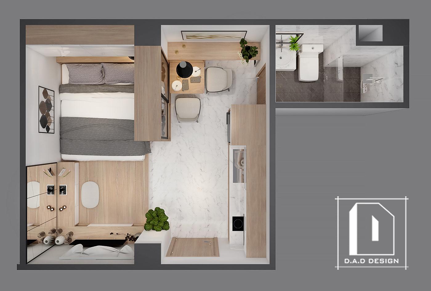 Mini Apartment 3 On Behance