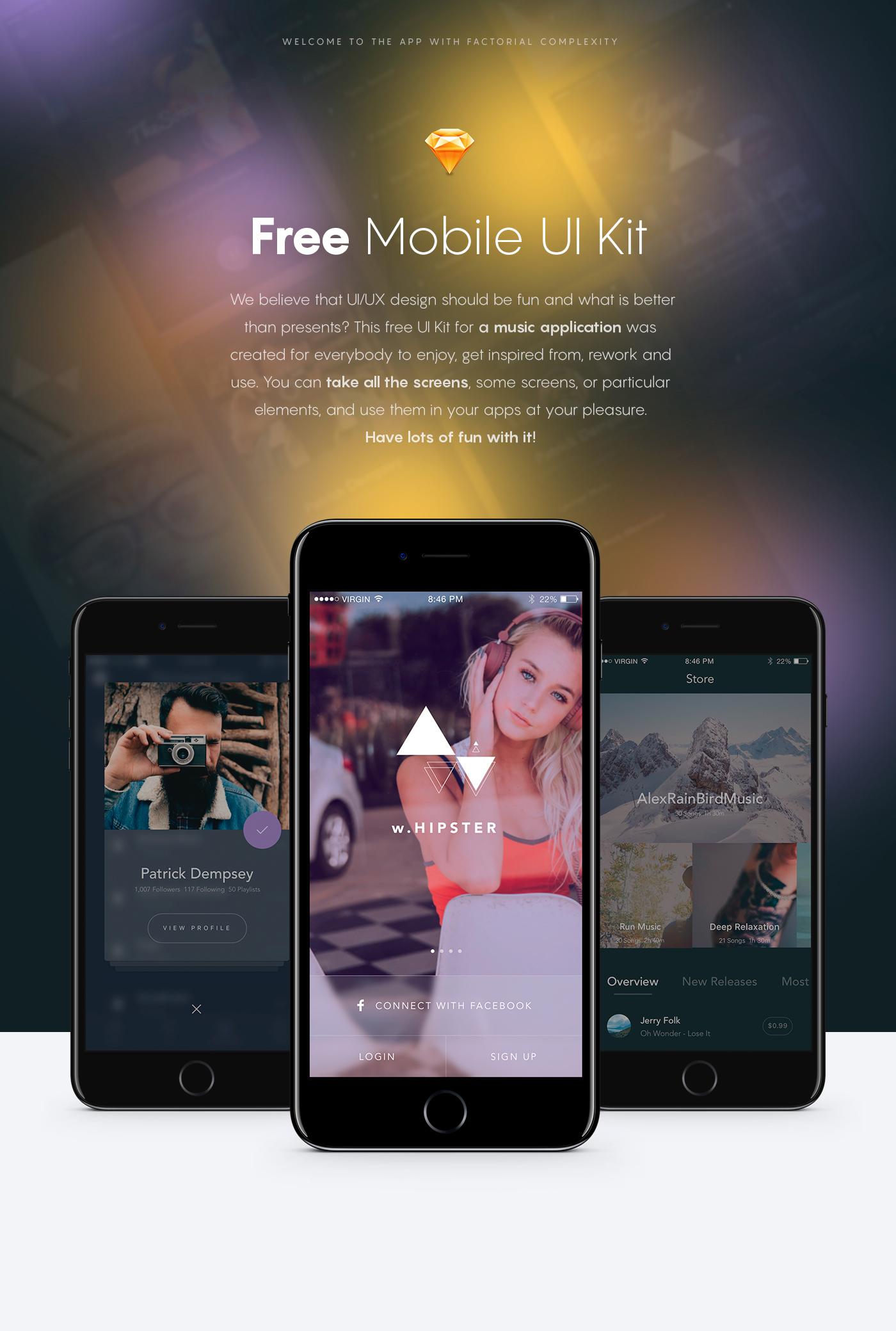 free Free App free screens music app iOS App music free download inspiration