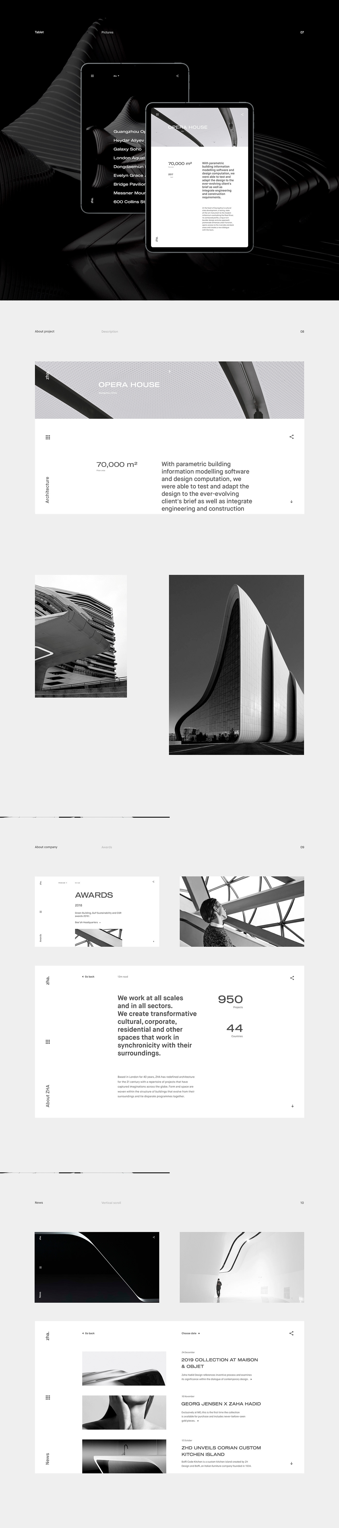 architecture Minimalism clean animation  grayscale business black and white Interface building motion