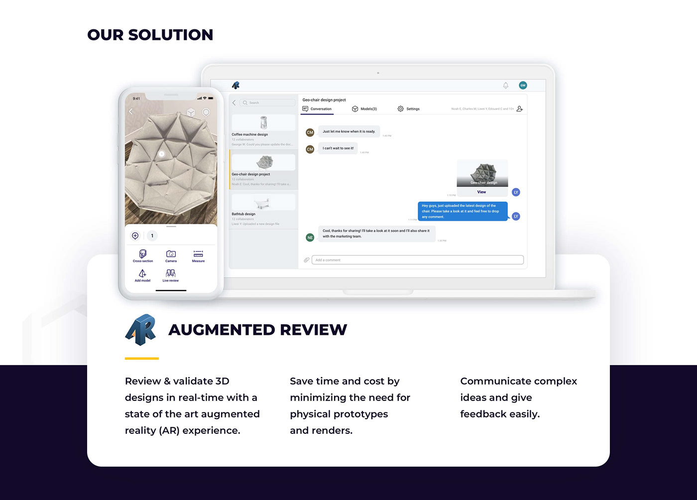 Augmented Review Collaboration industrial design  product design  SAAS