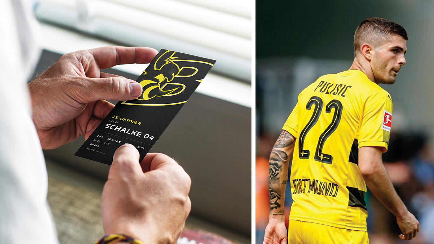 bvb Broussia Dortmund branding  soccer identity logodesign logo