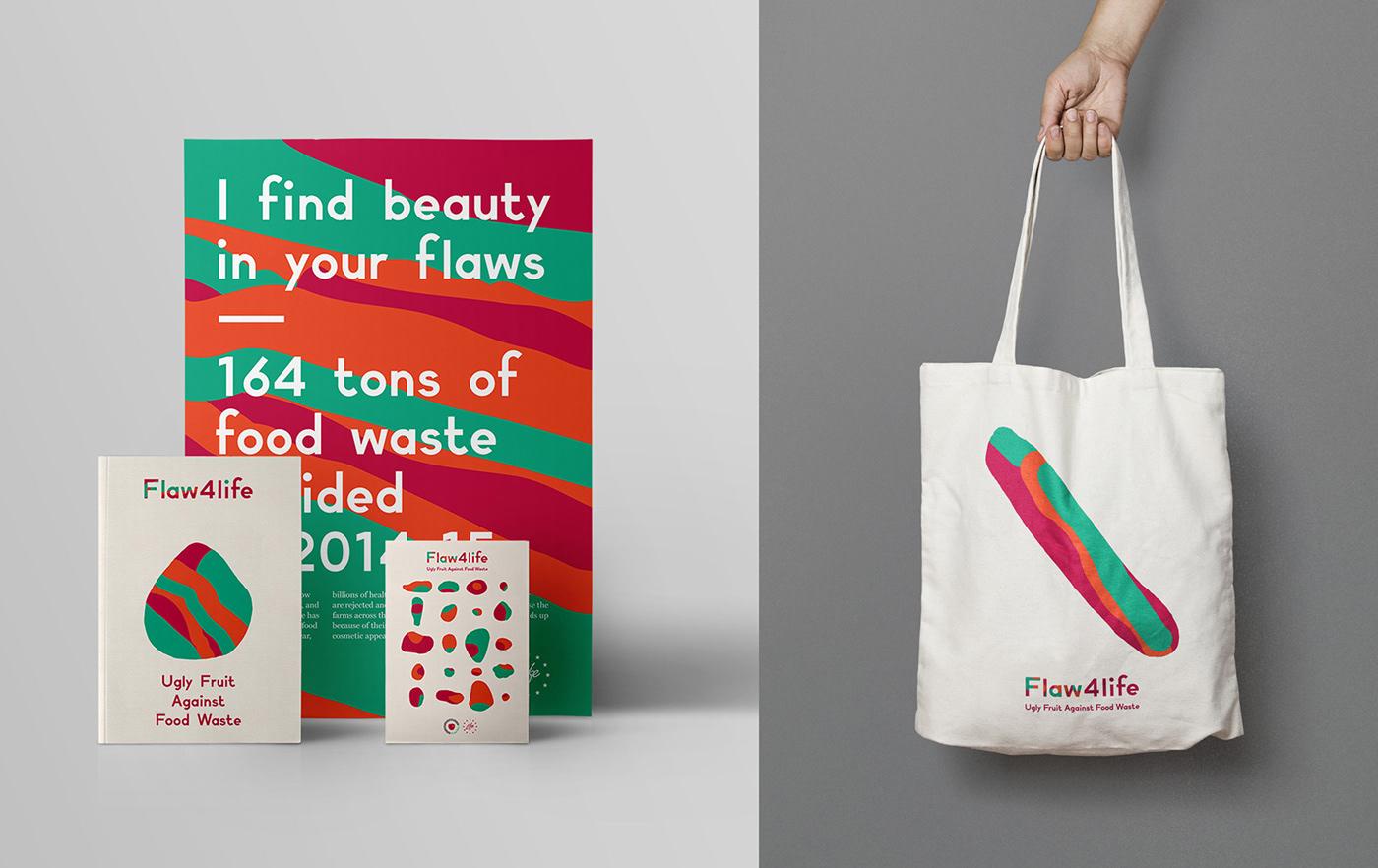 visual system,visual identity,branding ,Logo Design,ILLUSTRATION ,motion,print design ,ugly fruit,no waste,Visual Communication