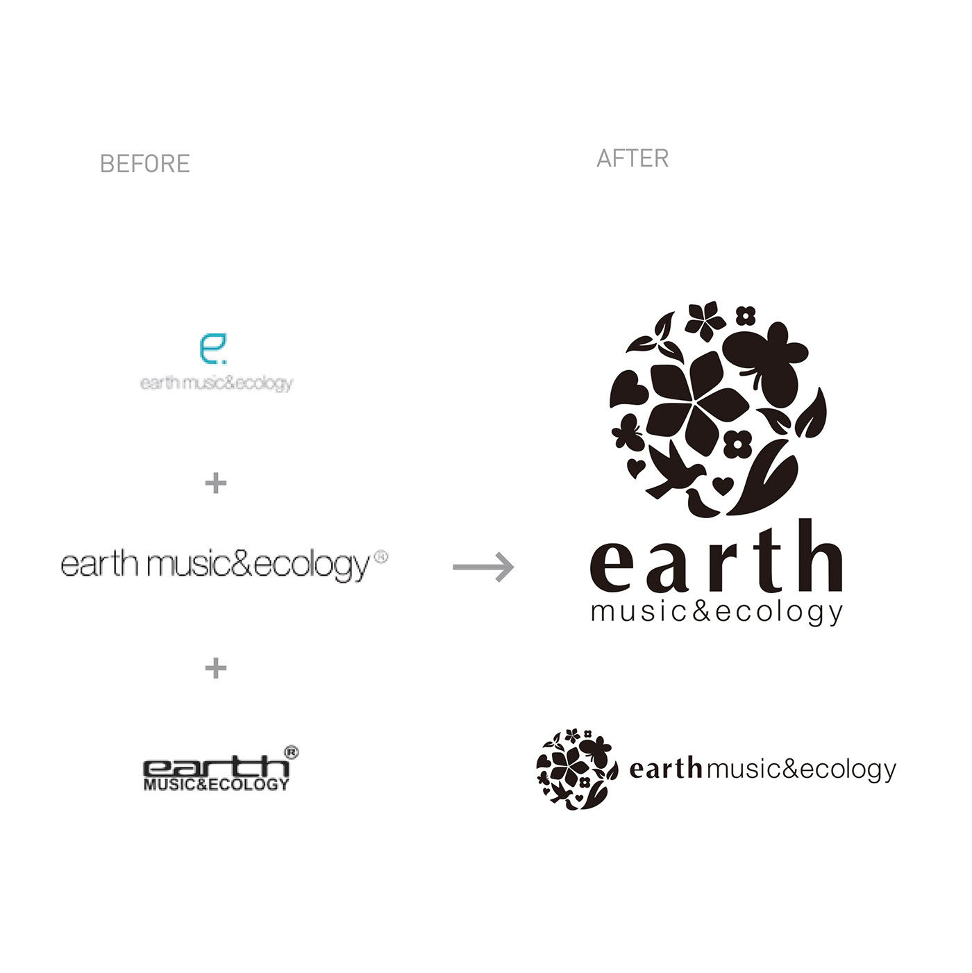 Earth music ecology logo on behance