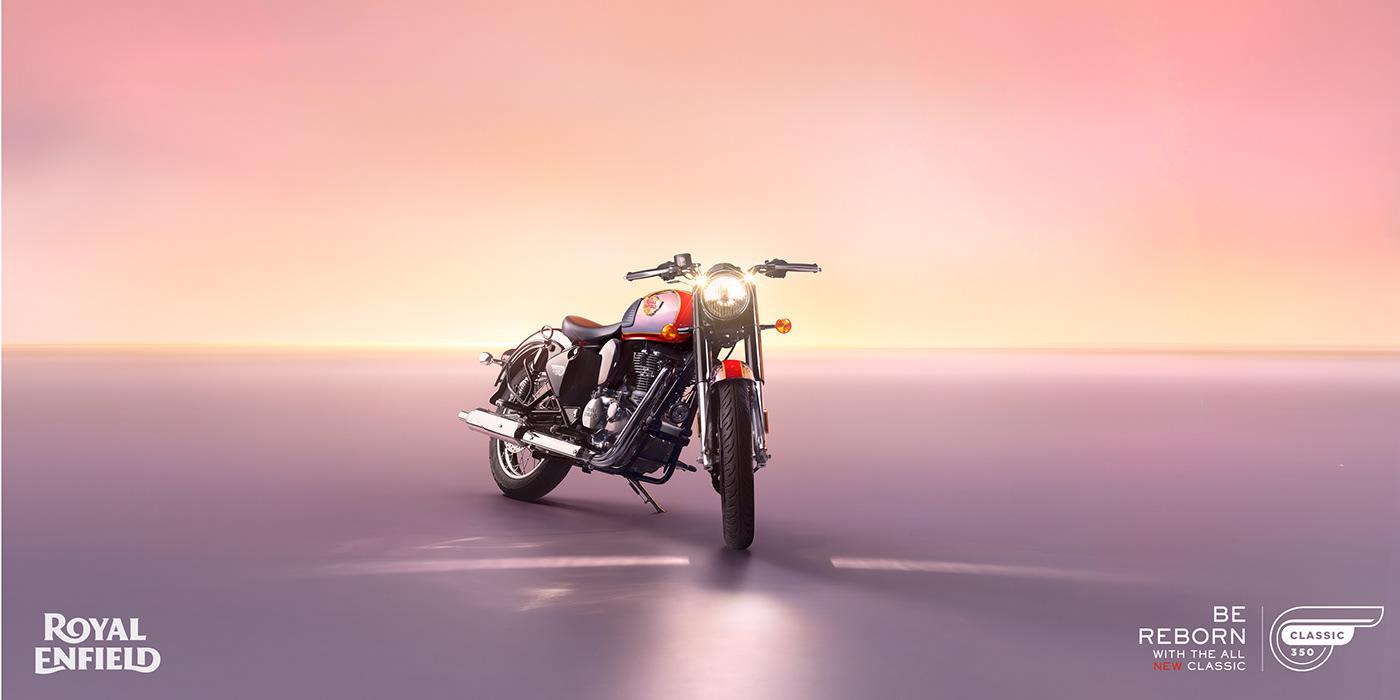 automotive   Bike horizon motorcycle royalenfield Advertising  automobile Classic350 motorbike Photography