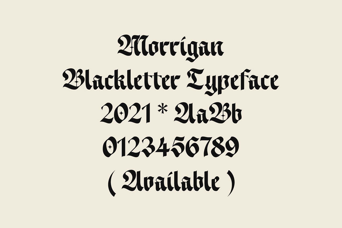 Blackletter Calligraphy   font gothic logo type Typeface typography