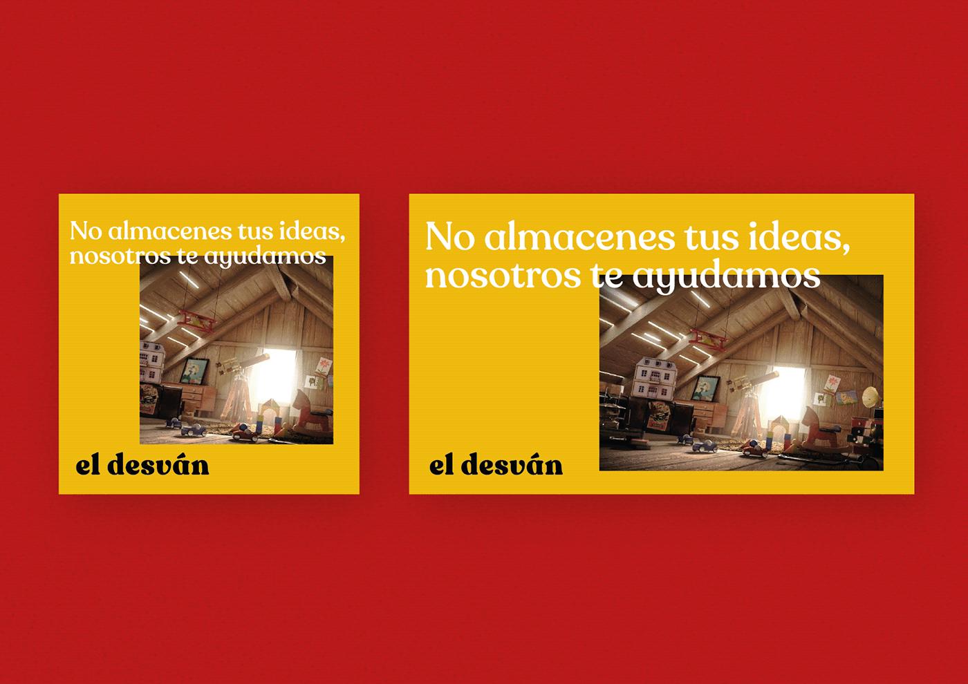 banner de la agencia de marketing el desván, con claim, no almacenes tus ideas, nosotros te ayudamos