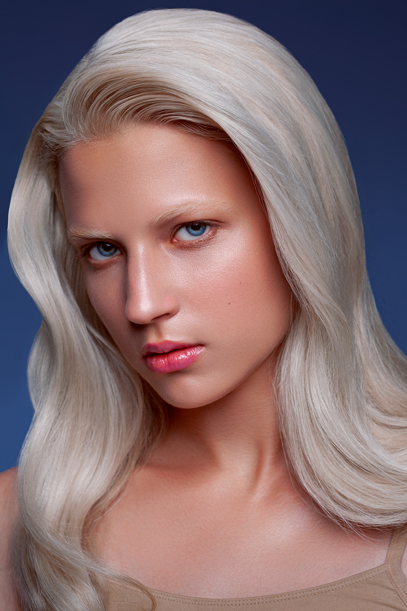 beauty Fashion  makeup photoshop portrait retouch retouching  blond Indigo