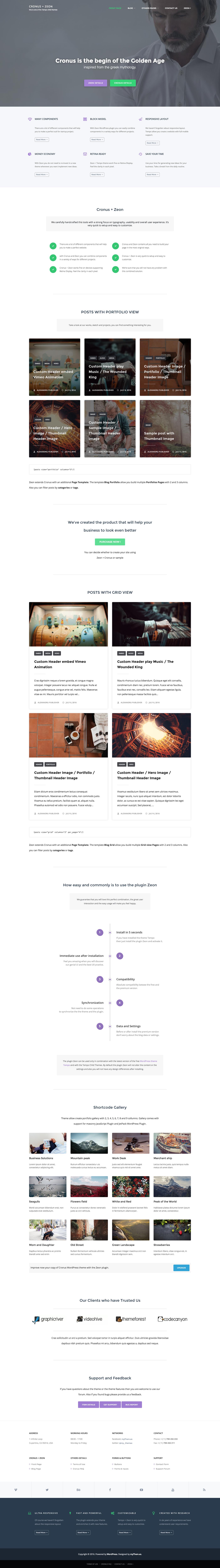 Tempo tempo child wordpress plugin wordpress theme free theme Clean Design myThemes White creative business portfolio grid custom header child theme