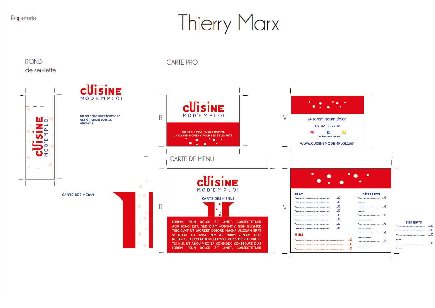 Carte charte graphique cration cuisine design identité visuel logo Project