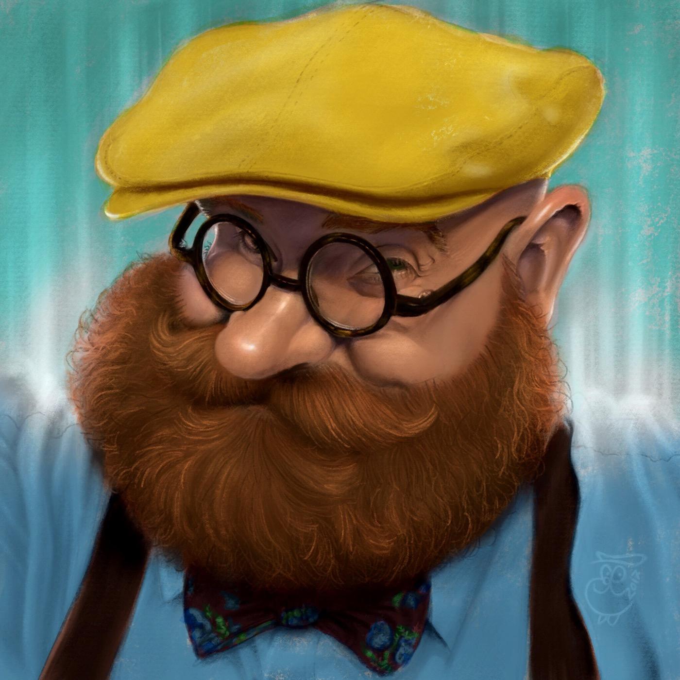 caricature   digital painting Procreate ipad pro