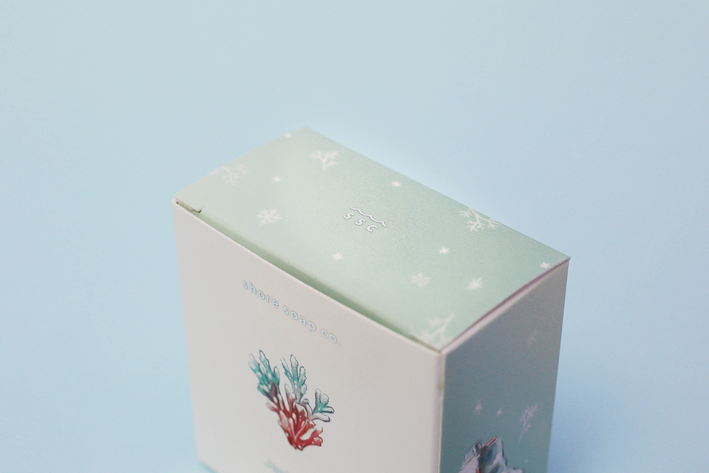 soap coral Ocean sea Cosmetic silver foil winter special edition Christmas soap packaging