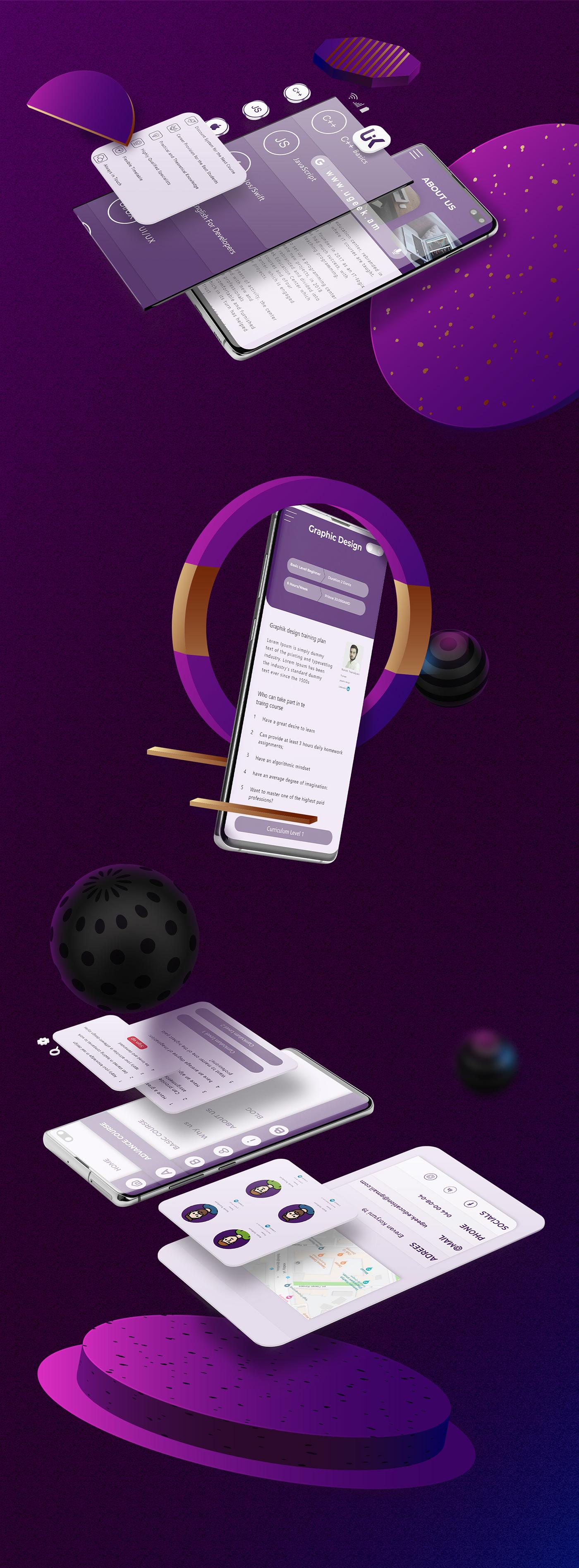 uiux mobile design Web Design  web page app branding  logo Logo Design Behance app design