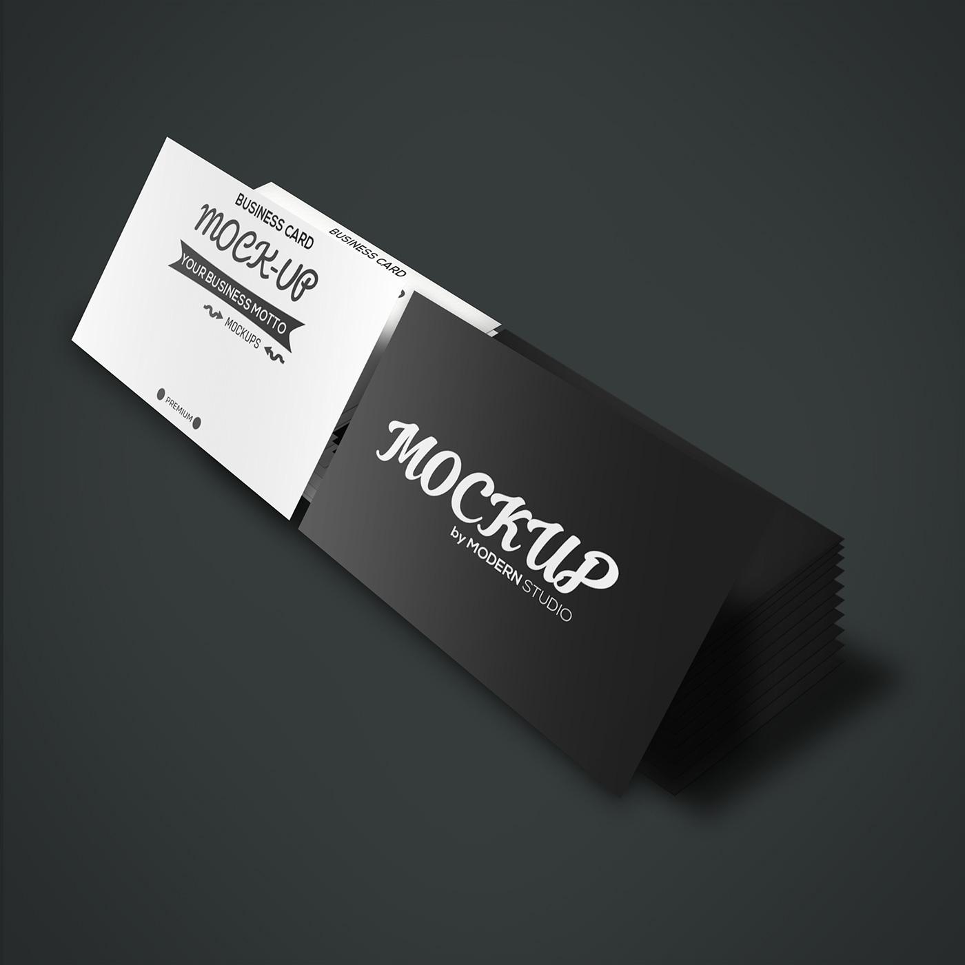 Freebie business card 2 stacks mockup on behance colourmoves