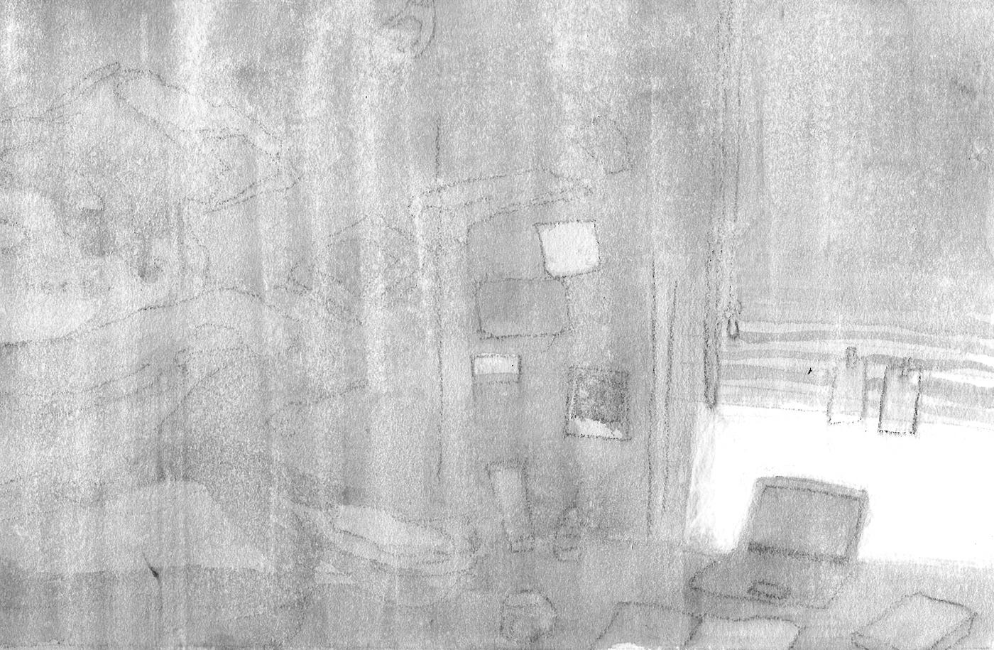 Image may contain: drawing, sketch and wall
