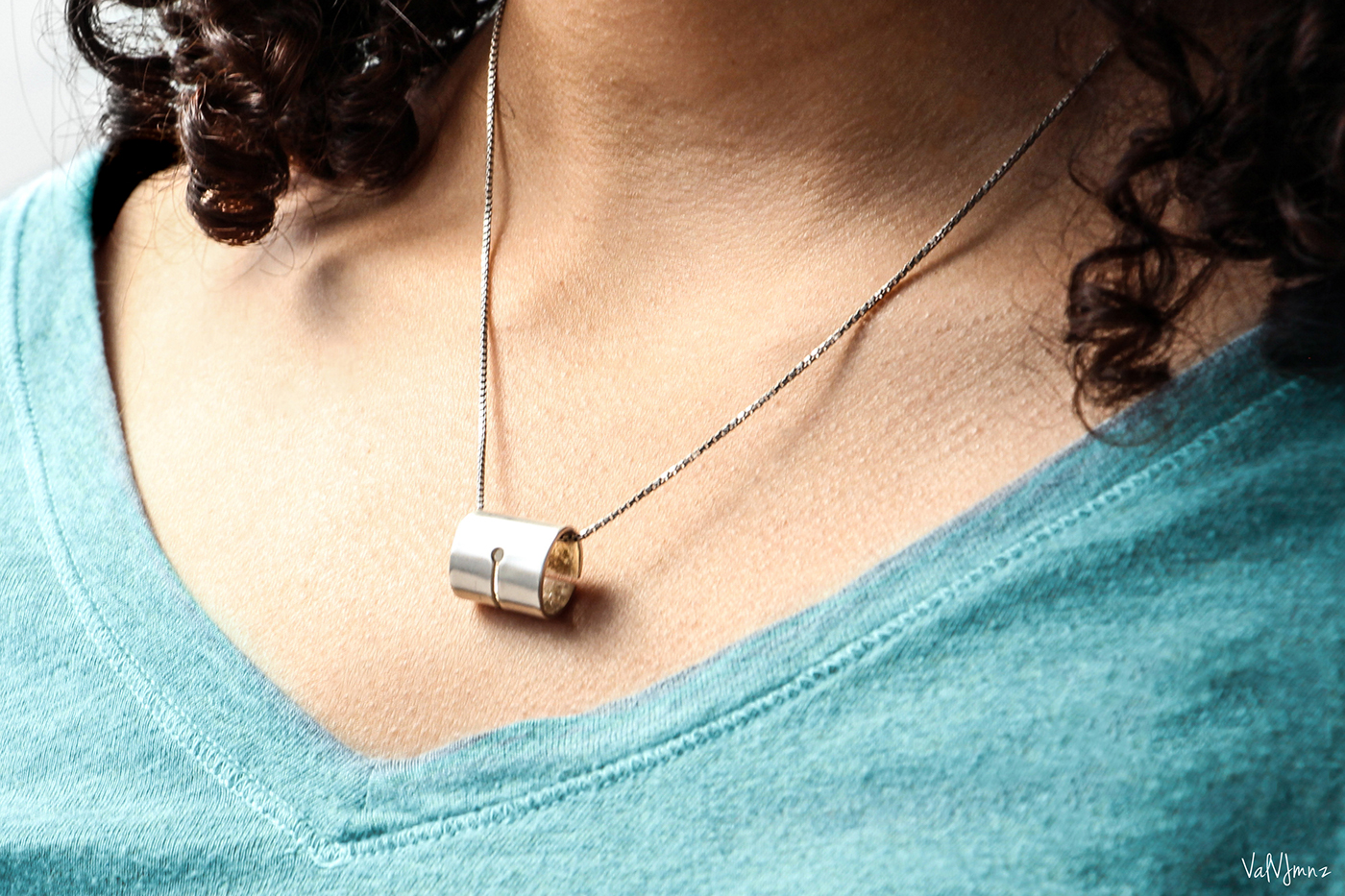 silver fountain pen handmade nib Necklace pendant