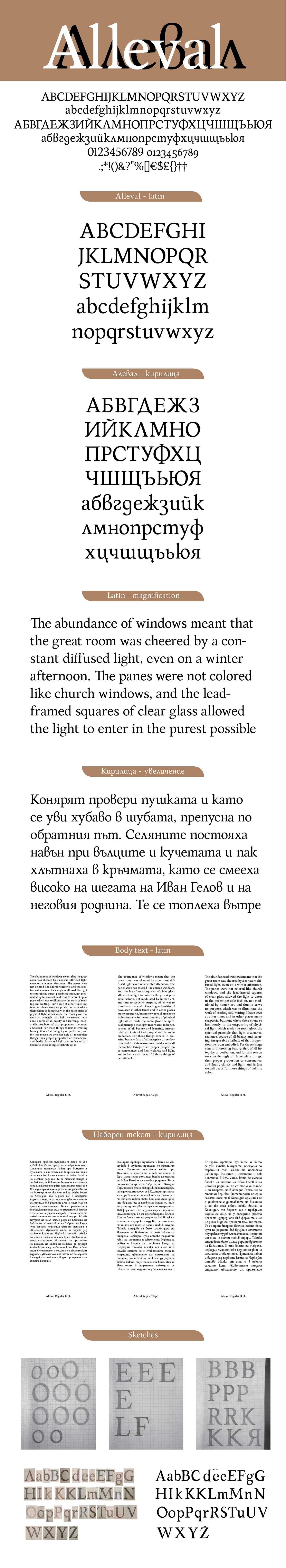 type type design Typeface font Bulgarian Cyrillic bulgarian Cyrillic Latin