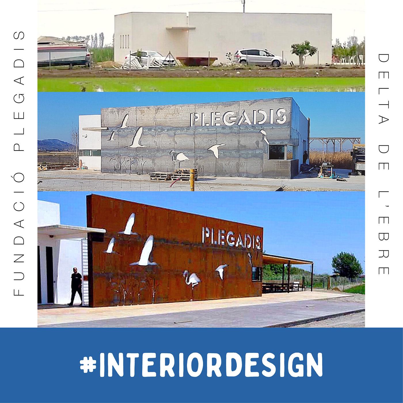"""Naming, idea y bocetos para fachada de la """"Fundació Plegadis"""""""