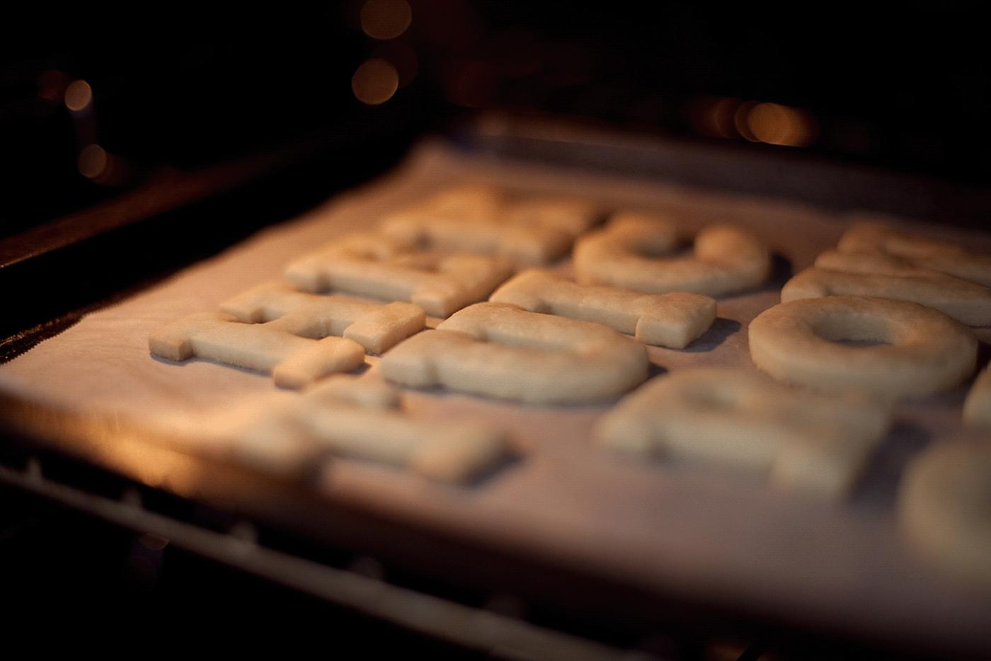 lubalin cookie linotype shillington masterclass student project typography   baking