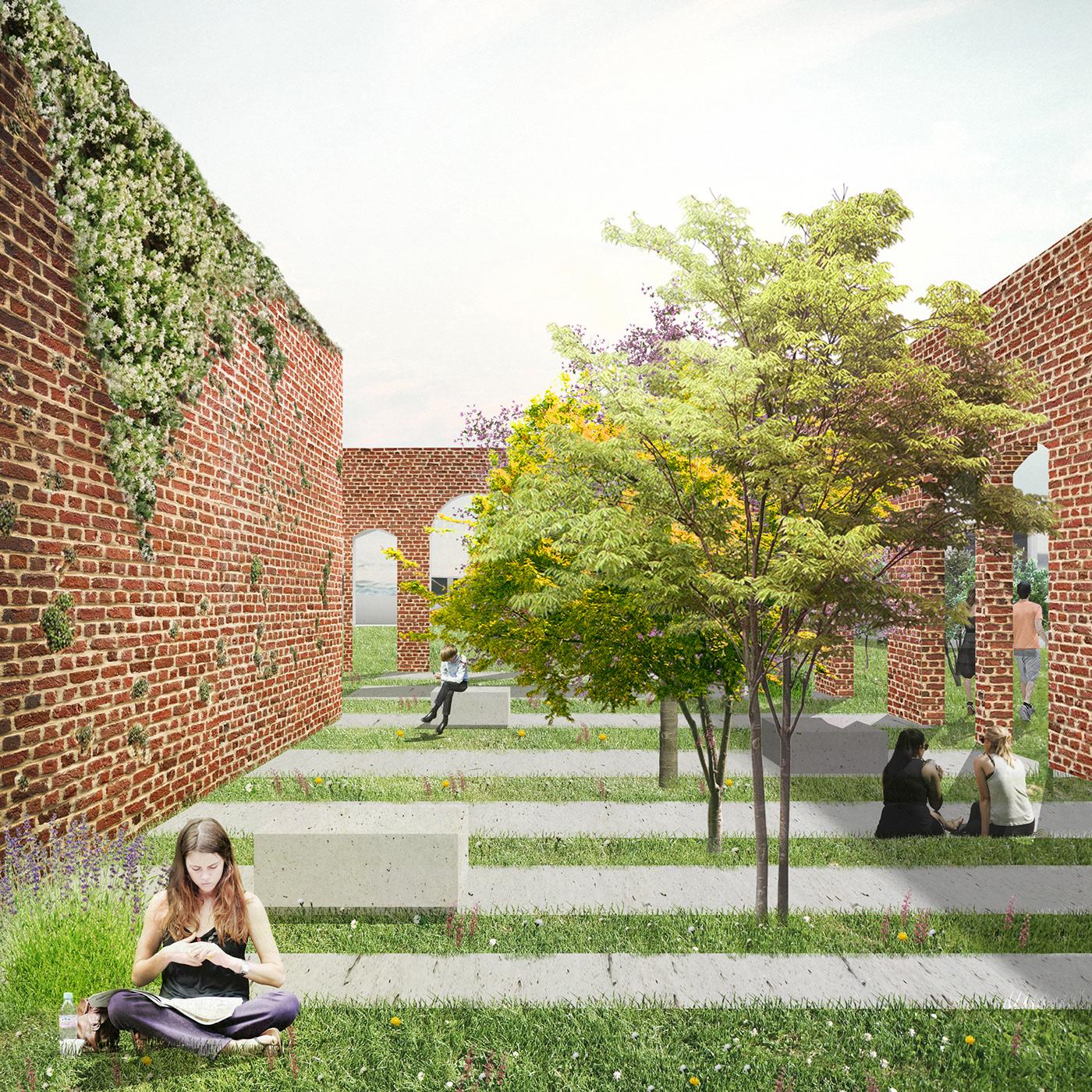 Young Architects Competition Venice Poveglia architecture Landscape Design Italy politecnico di milano university island haunted island