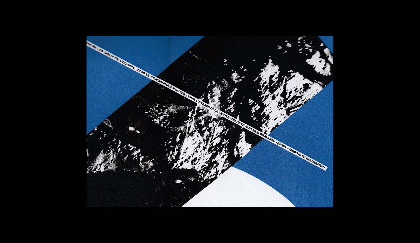 diptych poster atlas greek mythology blue grey