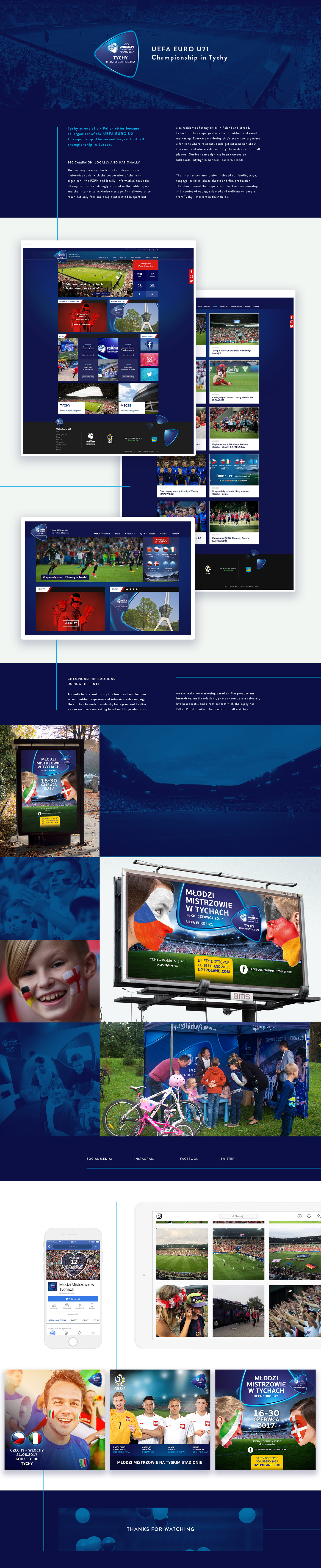 football Sport Campaign real time social media www UEFA EURO U21 tychy Outdoor