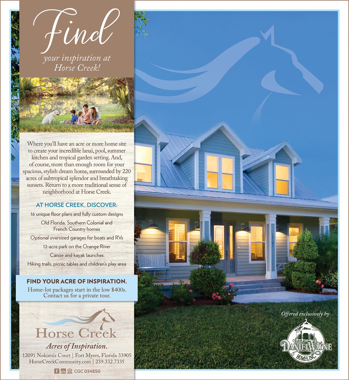 Daniel Wayne Homes - Horse Creek Print/Web Creative on Behance
